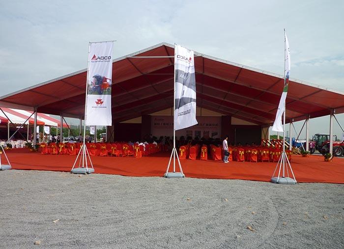常州爱科农业机械公司奠基活动篷房